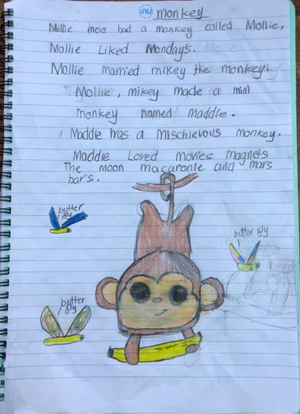 Millie's excellent poem using alliteration!