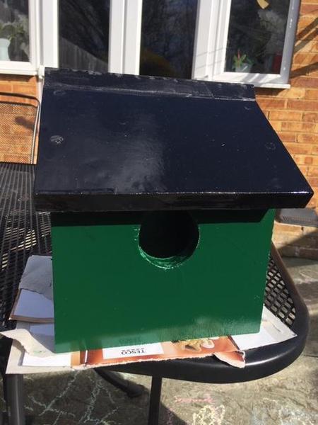 Isla made a Birdhouse!