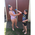 WATER FIGHT!!!!!