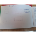 Freddy has been tracing his shapes.