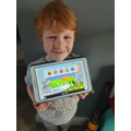 Charlie has been working so hard on Lexia!