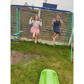 Chloe and Layla keeping fit and healthy