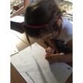 Darcey has been practising her letters!