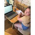 Enya working hard