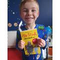 Alfie has been reading Mr Stink!