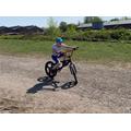 Ronnie riding his new bike