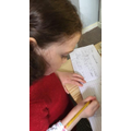 Keira writing her instructions