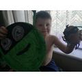Albie made Supertato and Evil Green Pea!