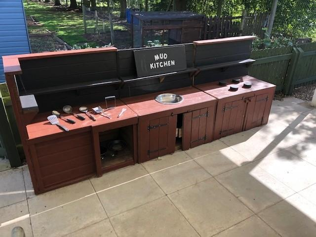 Our Mud Kitchen encourages conversation