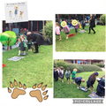 We went on a sensory walk through the different parts of the bear hunt story.