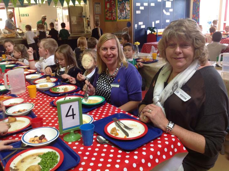 Jeanette Orrey joined Elisa Basnett for lunch