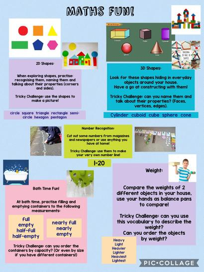 Lots of fun maths ideas!