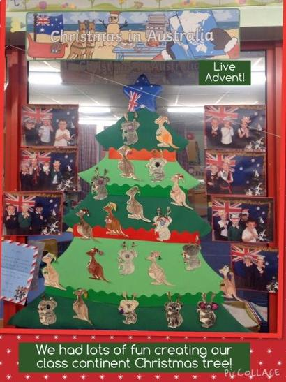 We've been learning about Christmas around the world & how it's celebrated in our contin