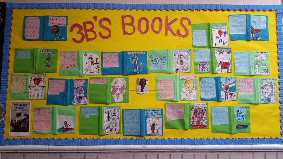 We designed our own book covers based on the  Jaden Toussaint stories by Marti Dumas.