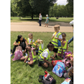Lollies in Green Park to cool us down.