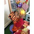 The tiger loves tea!