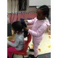 We can help each other do their hair.