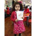 Aysha has written her recipe.