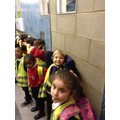 We are waiting to go into the Garden.