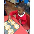 Ianyana has made six pizzas!
