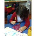 'I used watercolour pencils.'