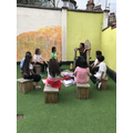 Story telling and drama with Ms.Nwaneri