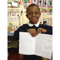 We wrote our own messages in our cards.