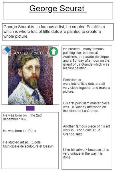 Pointillism fact file