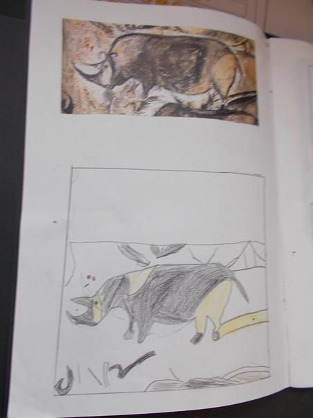 Cave painting sketches