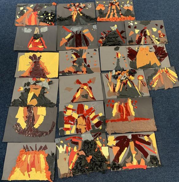 Erupting Volcanoes Collages