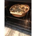 Meatball pasta bake - looking good!