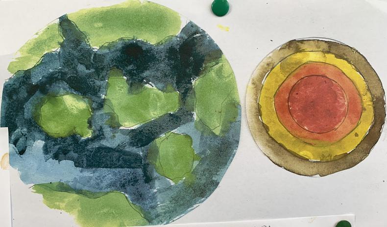 Water Colours Art lesson