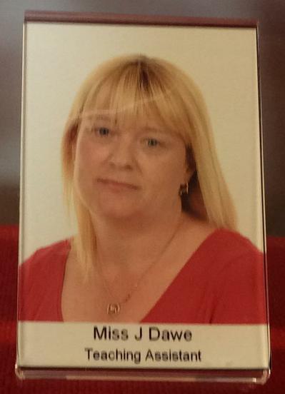 Miss Dawe.  Key Stage 2 T.A.