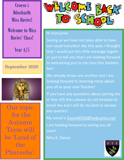 Transition Information for Year 4/5