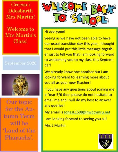 Transition Information for Year 5/6
