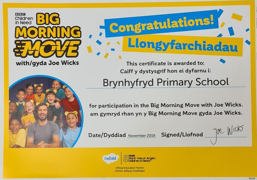 We enjoyed joining Joe Wick's Big Morning Move this year to be more healthy and confident