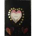 Millie's St Dwynwen's day card!