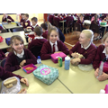 Hawks class enjoying their packed lunches