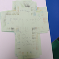 We made crosses and included a Bible verse