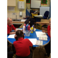 Y4 children painting pictures of bible stories