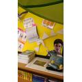 Mr Potter himself admiring our star writer's work