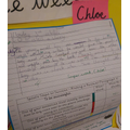 Chloe created some fab ideas in her work this week