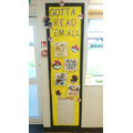 Our Pokemon themed reading wall