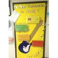 Our musical behaviour wall