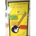 Our musical behaviour wall