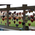Finished heart mobiles