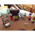 The knitted Nativity scene