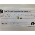 3rd place in our descriptive sentence competition