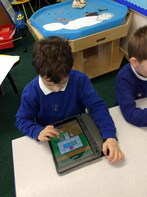 We used the Bee-Bot on the iPad.
