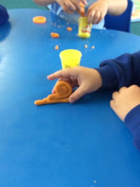 We made Matisse the Snail using our dough.